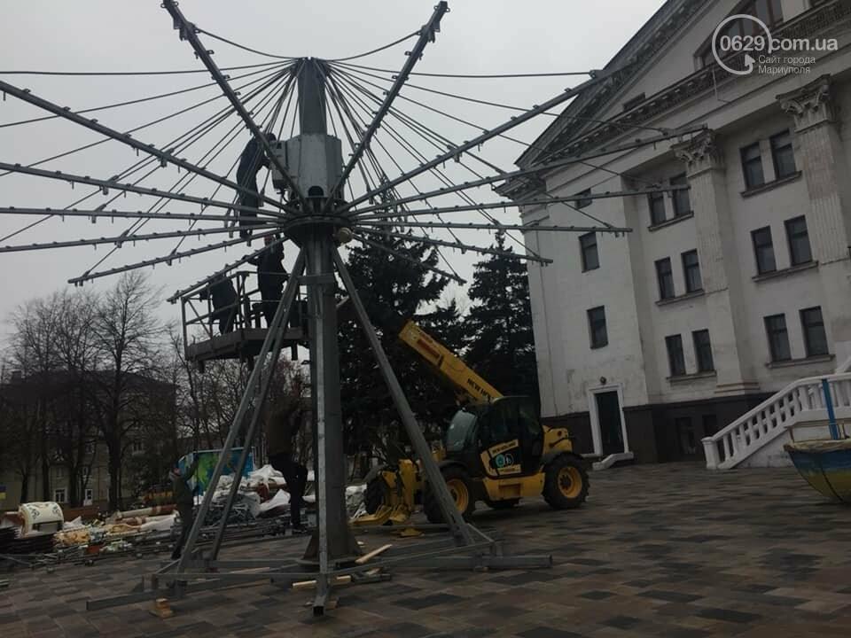 В Мариуполе устанавливают карусель с национальной символикой,- ФОТО, фото-3