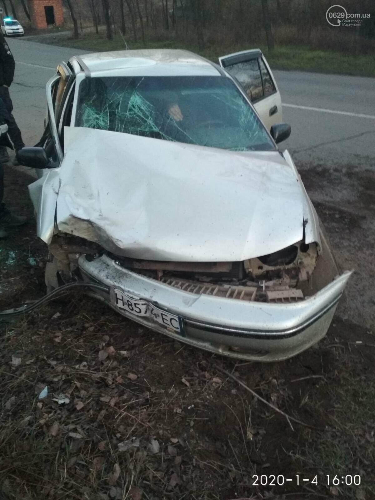 В Мариуполе на ул. Тополиной автомобиль влетел в дерево. Пострадали 4 человека, - ФОТО, фото-8