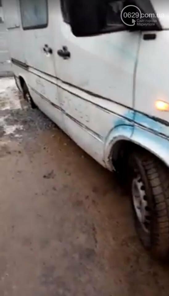 """В Мариуполе """"Мерседес"""" попал в оставленную на дороге ловушку, - ФОТО, ВИДЕО, фото-3"""