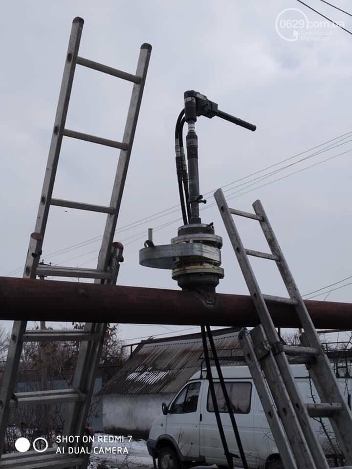 Под Мариуполем восстанавливают перебитый газопровод,- ФОТО, фото-4