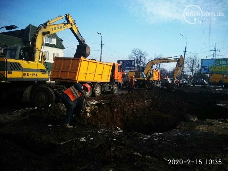 Обвал коллектора: для устранения аварии в Мариуполе перекроют дорогу, обесточат десятки домов и 4 котельные , - ФОТО, фото-1