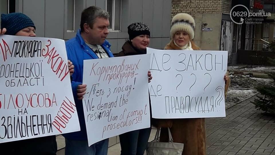 Представители независимого профсоюза принесли под прокуратуру шины, фото-8