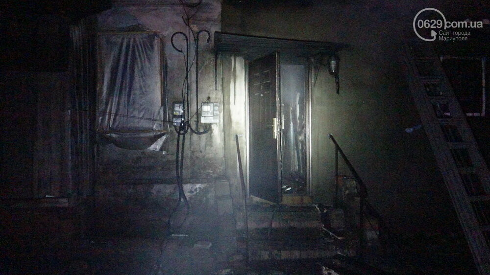 В Мариуполе на Слободке горел дом, - ФОТО, фото-12