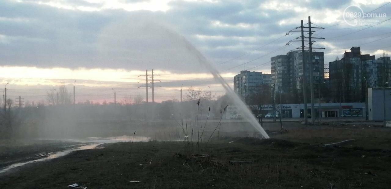 """Вода из-под земли. В Мариуполе забил """"фонтан"""", - ФОТОФАКТ, фото-1"""