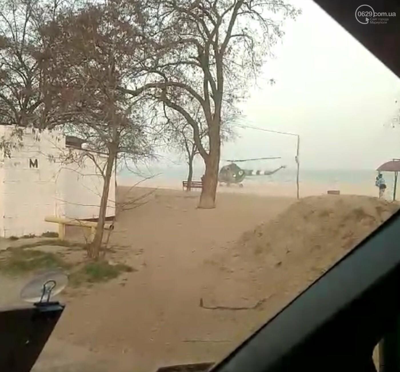 На пляже посёлка Песчаный сел вертолёт, - ВИДЕО, фото-1