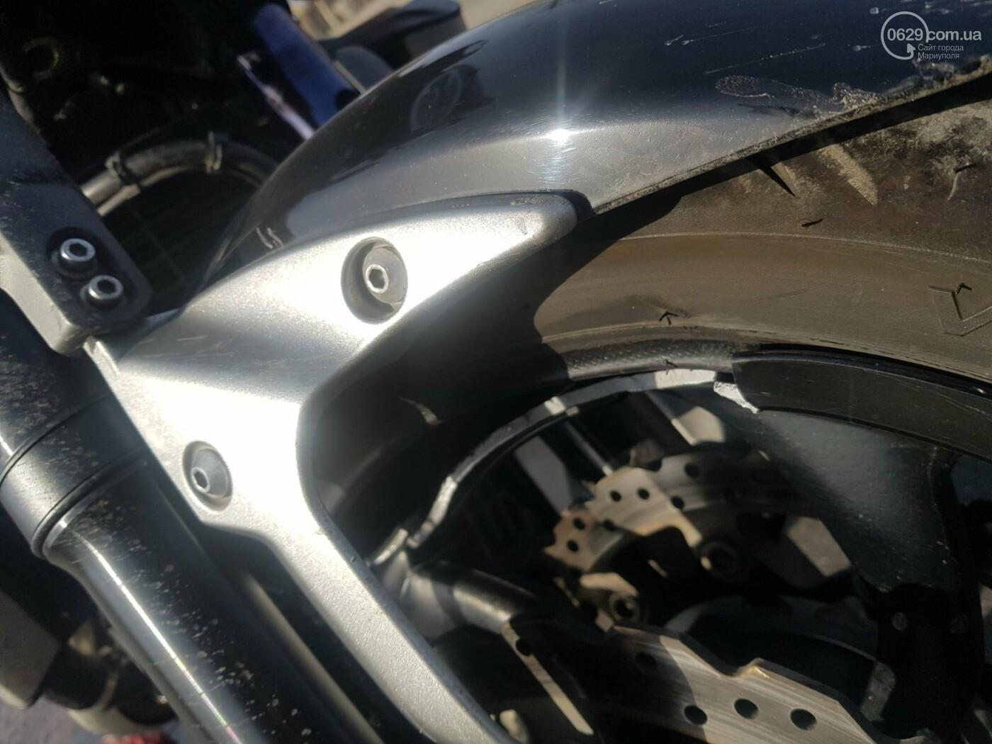 В Мариуполе мотоциклист врезался в бордюр,-ФОТО, фото-3