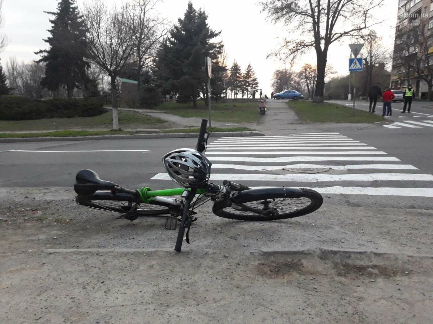 В Мариуполе под колёса авто попал велосипедист, - ФОТО, фото-1