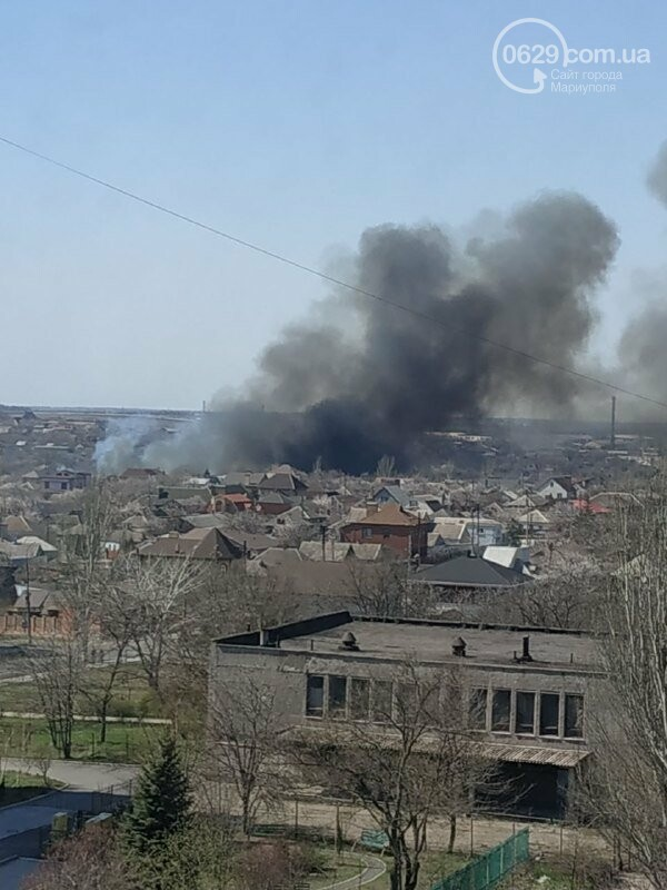 Масштабный пожар: в Зинцевой балке выгорело полгектара камыша , - ФОТО, фото-1