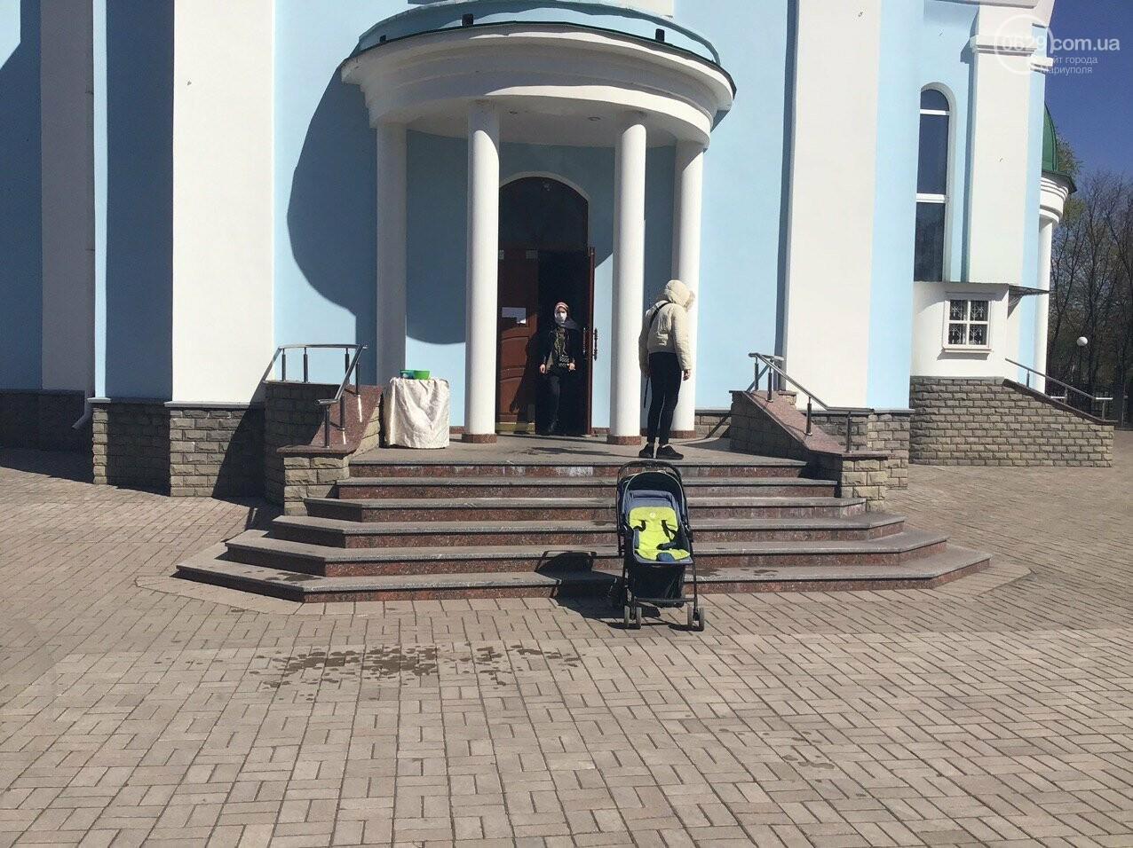 Вербное воскресенье в Мариуполе: как в храмах соблюдают карантин, - ФОТО, ВИДЕО, фото-5