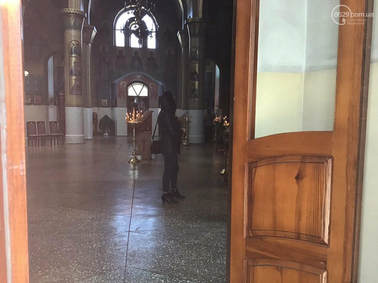 Вербное воскресенье в Мариуполе: как в храмах соблюдают карантин, - ФОТО, ВИДЕО, фото-4