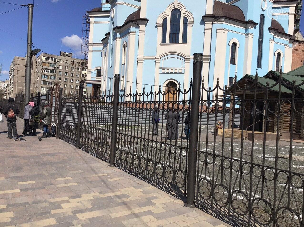 Вербное воскресенье в Мариуполе: как в храмах соблюдают карантин, - ФОТО, ВИДЕО, фото-10