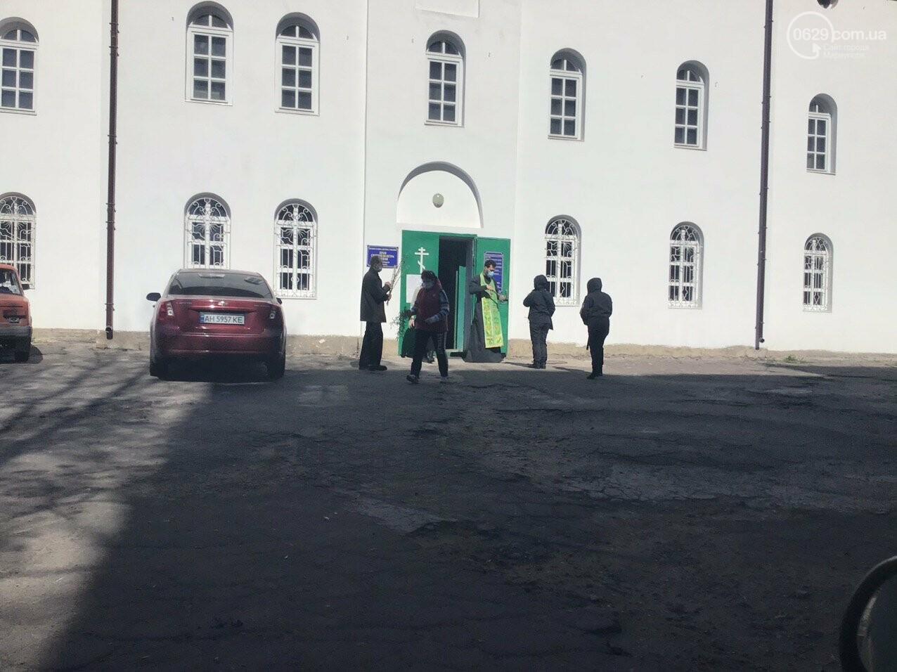 Вербное воскресенье в Мариуполе: как в храмах соблюдают карантин, - ФОТО, ВИДЕО, фото-1