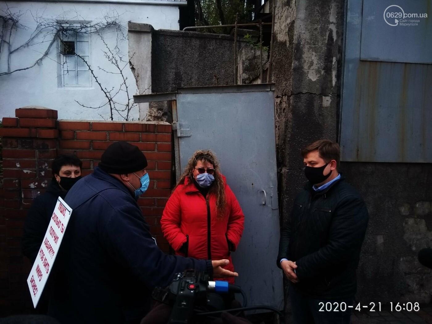 """Мариупольские предприниматели  развернули """"уличную торговлю"""" под стенами мэрии, - ФОТО, фото-1"""