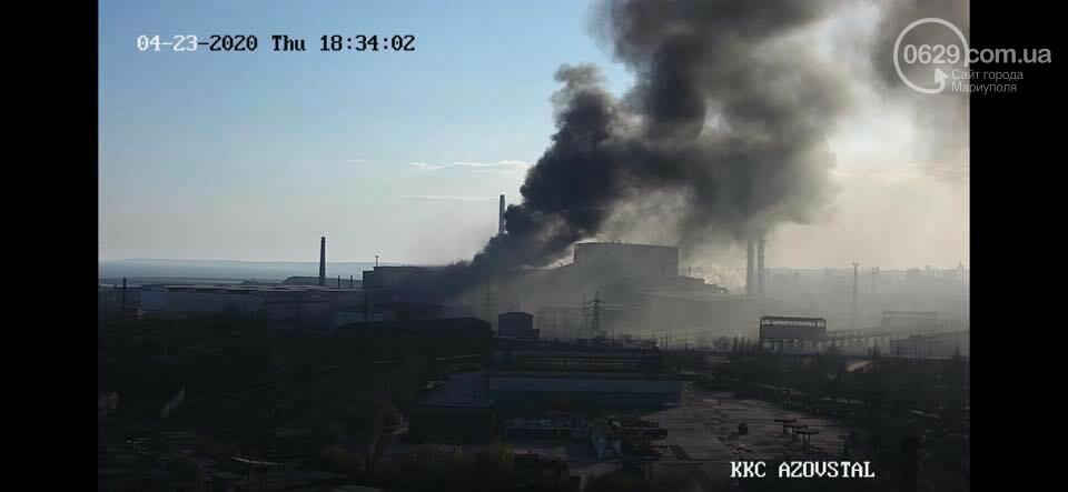 """Черный дым над """"Азовсталью"""": стали известны причины пожара, - ФОТО, ВИДЕО, фото-6"""
