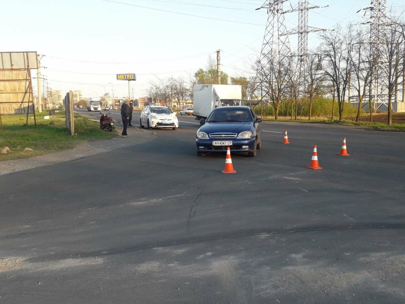 В Мариуполе в аварии пострадал мопедист, - ФОТО, фото-1