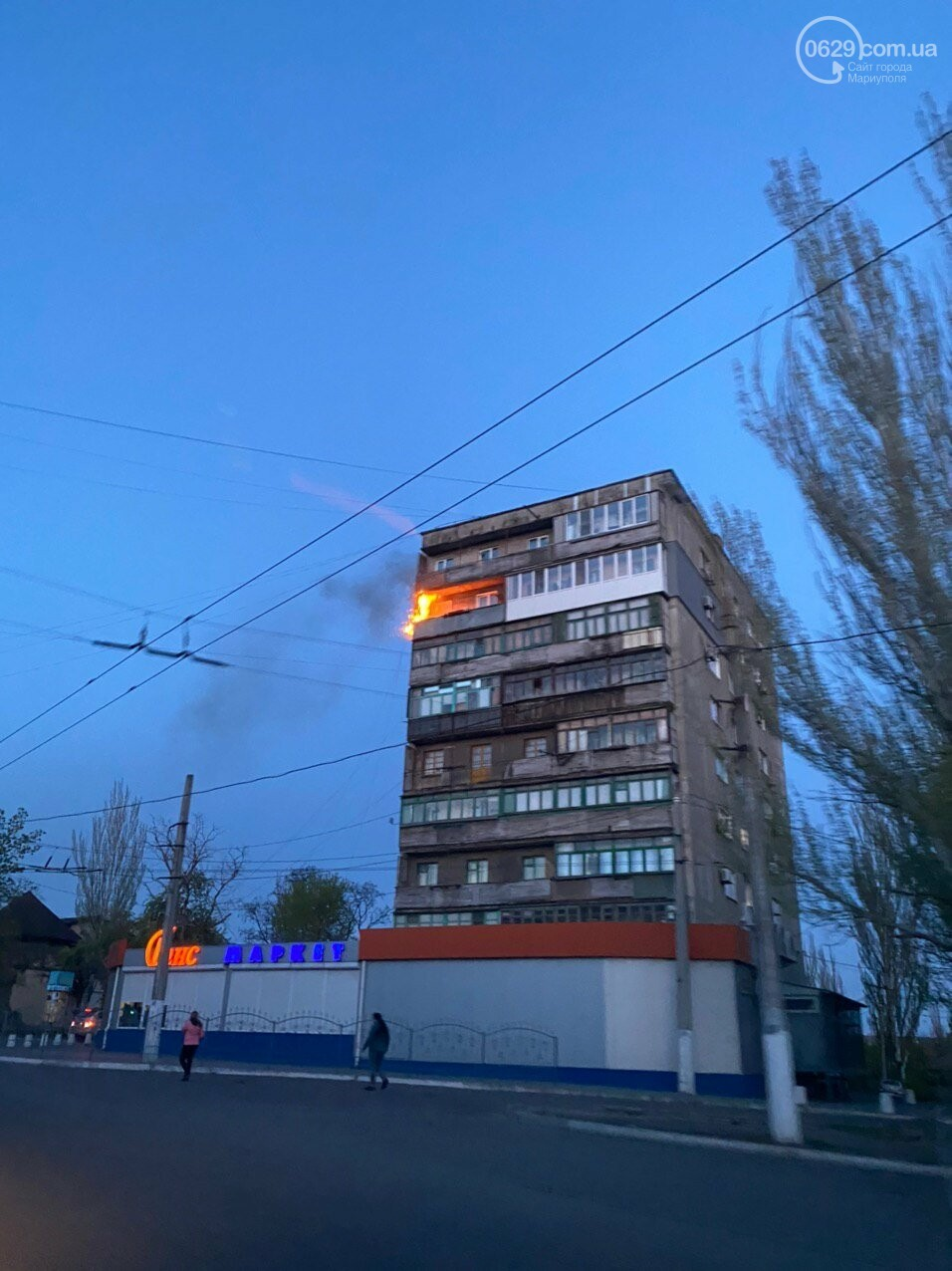 В многоэтажке на Нахимова  сгорел балкон, - ФОТО, фото-1