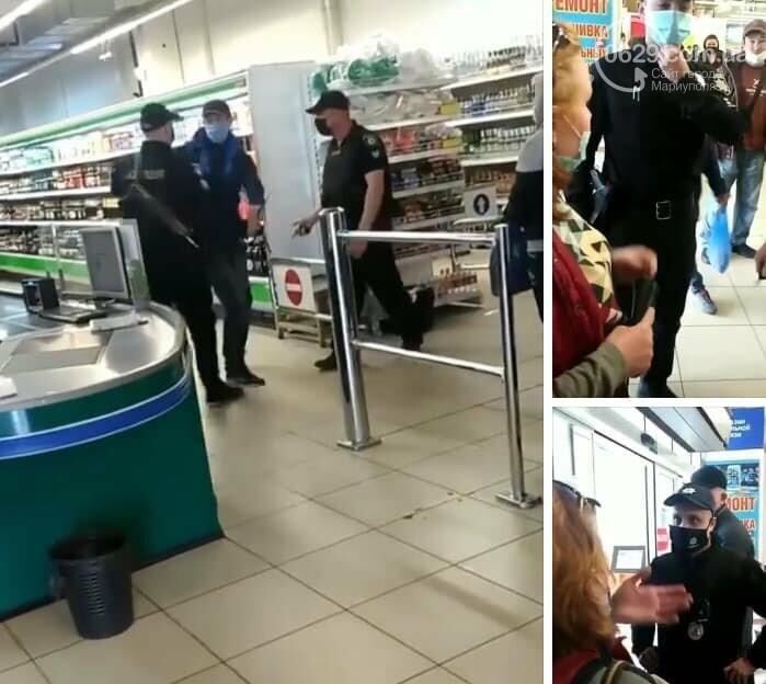 Полиция заломила руки мариупольцу, который хотел зайти в супермаркет без маски, - ФОТО, фото-2