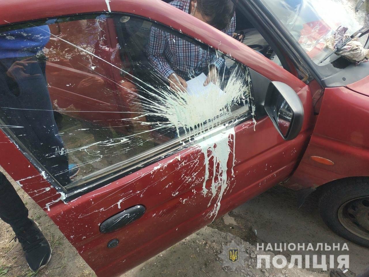 В Мариуполе автоколонну забросали краской, - ФОТО, фото-1