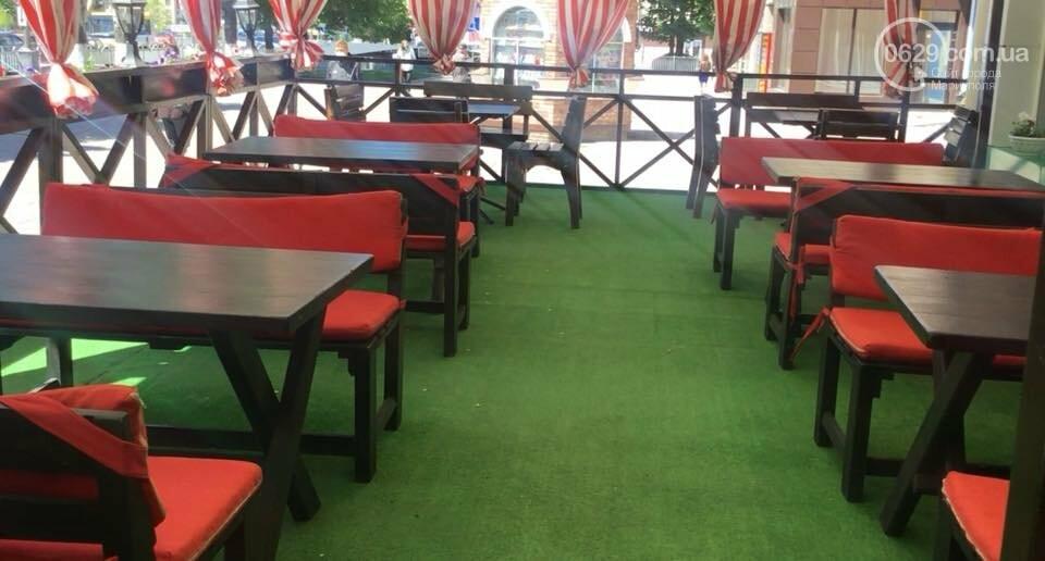 Как в Мариуполе открылись летние площадки кафе в период коронавируса, - ФОТО, ВИДЕО, фото-3