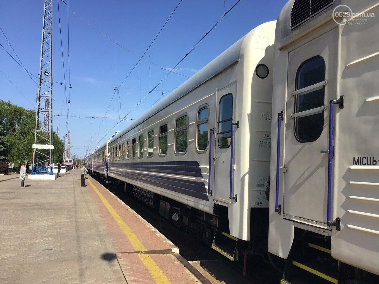 Из Мариуполя отправился первый поезд в Киев, - ФОТОРЕПОРТАЖ, ВИДЕО, фото-3