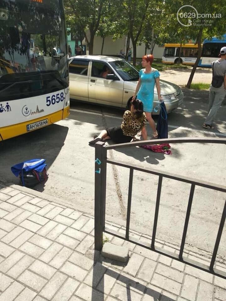 В Мариуполе  водитель ВАЗа сбил кондуктора автобуса,- ФОТО, фото-1