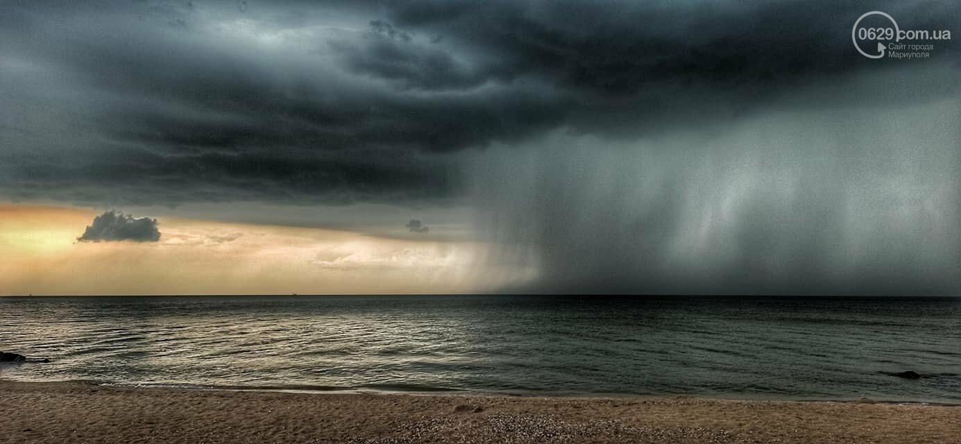 Град, ливень и молния. На побережье Азовского моря обрушилась непогода, - ФОТО, ВИДЕО, фото-4