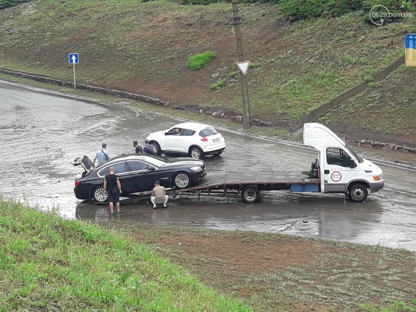 На Мариуполь обрушился ливень: транспорт плыл по дорогам,- ФОТО, фото-10