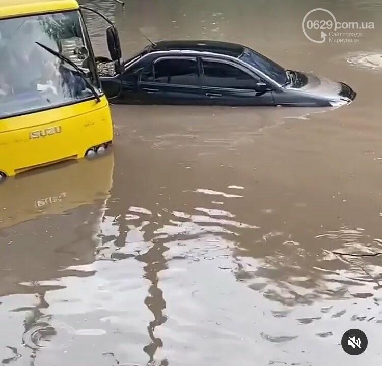 На Мариуполь обрушился ливень: транспорт плыл по дорогам,- ФОТО, фото-3