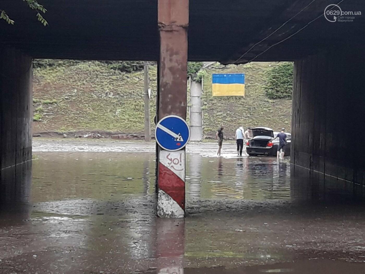 На Мариуполь обрушился ливень: транспорт плыл по дорогам,- ФОТО, фото-12