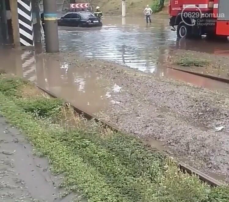 На Мариуполь обрушился ливень: транспорт плыл по дорогам,- ФОТО, фото-5