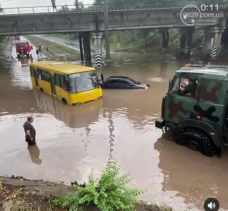 На Мариуполь обрушился ливень: транспорт плыл по дорогам,- ФОТО, фото-4
