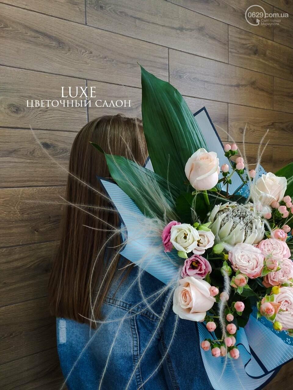 Изысканные, стильные букеты цветов с доставкой от сети салонов LUXE, фото-10