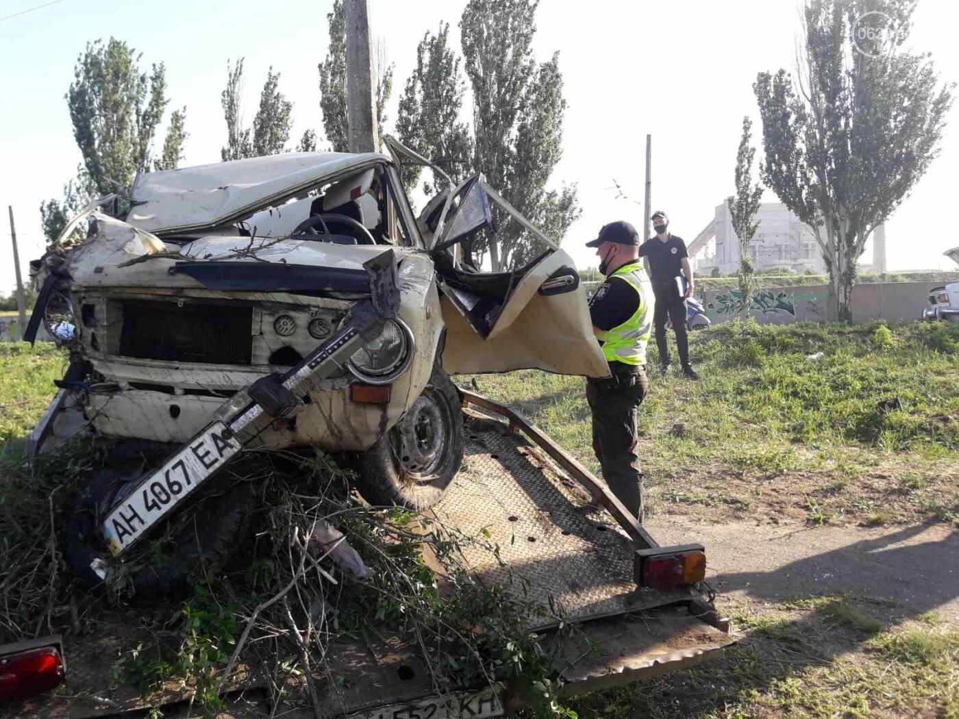 Серьезная авария в Кальмиусском районе. ВАЗ с пассажирами вылетел в кювет, четверо пострадавших, - ФОТО, фото-10