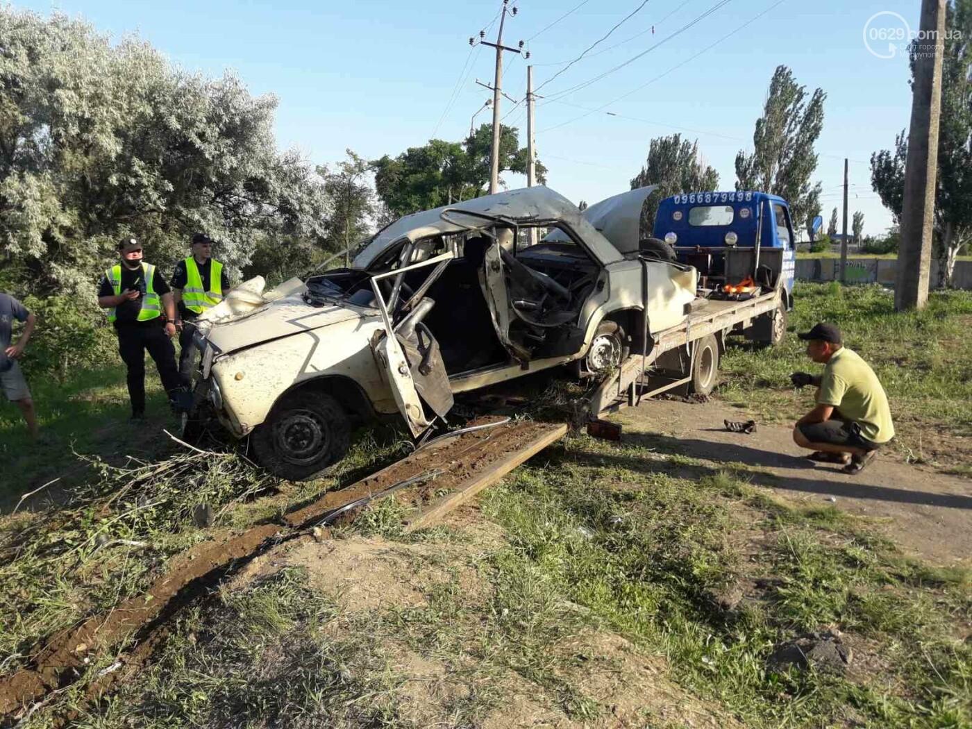 Серьезная авария в Кальмиусском районе. ВАЗ с пассажирами вылетел в кювет, четверо пострадавших, - ФОТО, фото-8