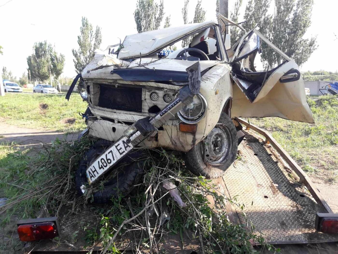 Серьезная авария в Кальмиусском районе. ВАЗ с пассажирами вылетел в кювет, четверо пострадавших, - ФОТО, фото-7