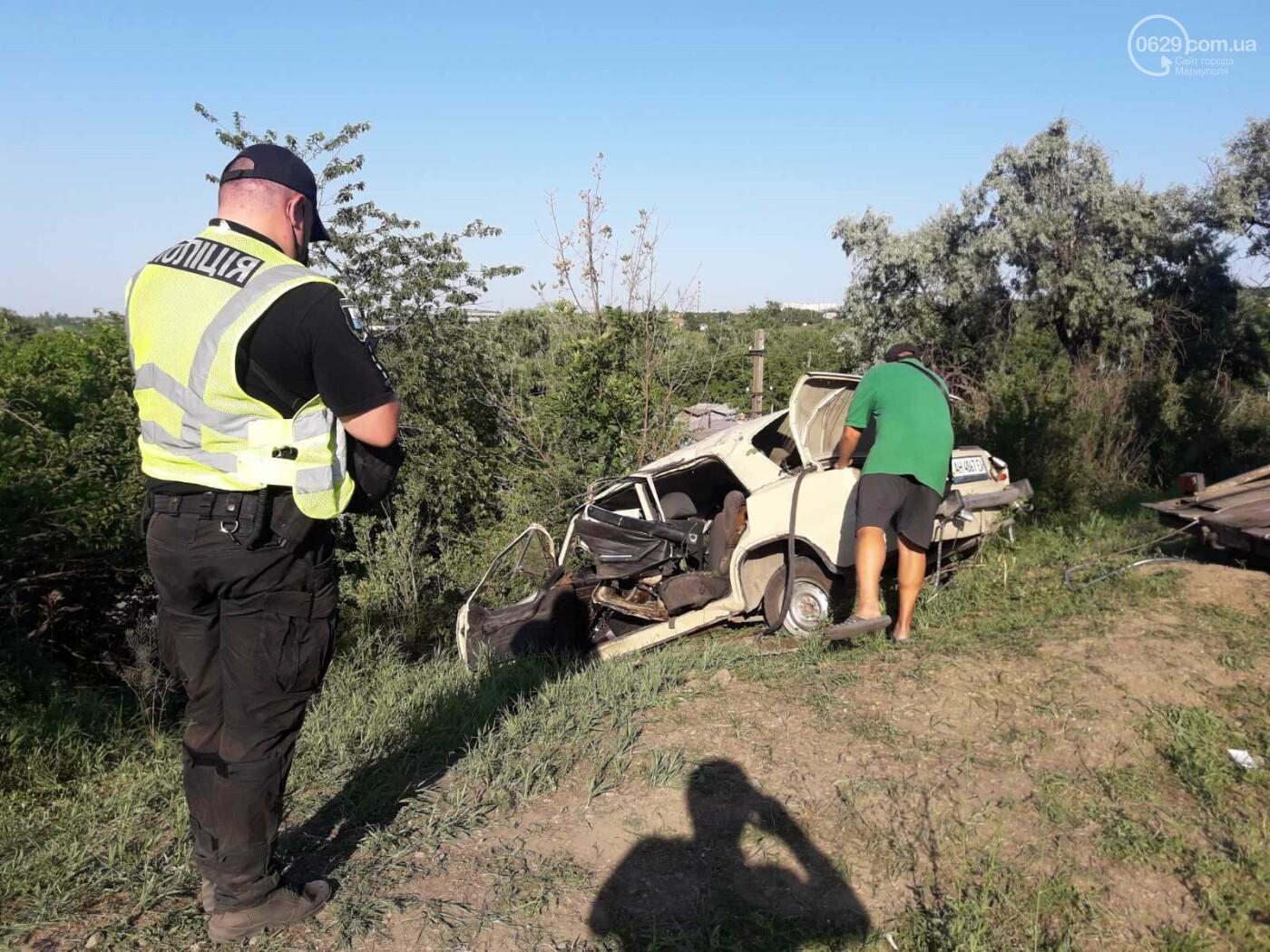 Серьезная авария в Кальмиусском районе. ВАЗ с пассажирами вылетел в кювет, четверо пострадавших, - ФОТО, фото-12
