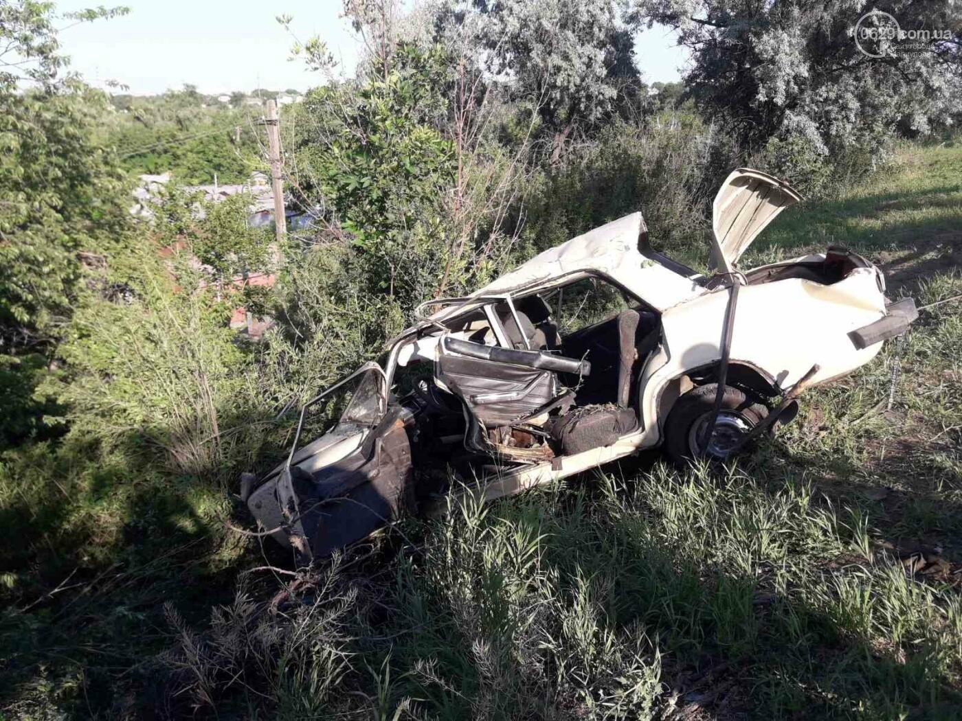 Серьезная авария в Кальмиусском районе. ВАЗ с пассажирами вылетел в кювет, четверо пострадавших, - ФОТО, фото-11