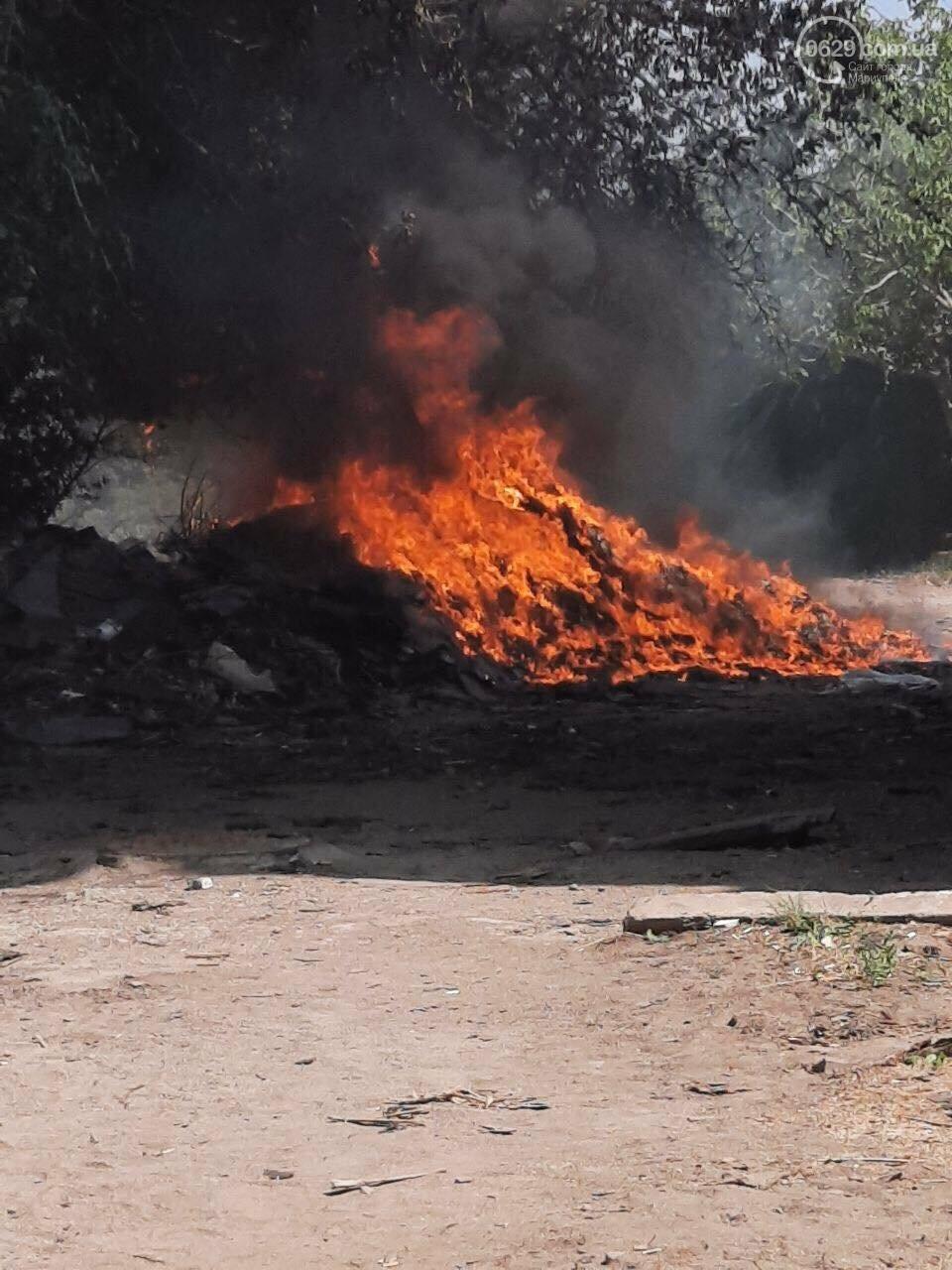 На Левобережье Мариуполя произошло два пожара, - ФОТО, фото-1