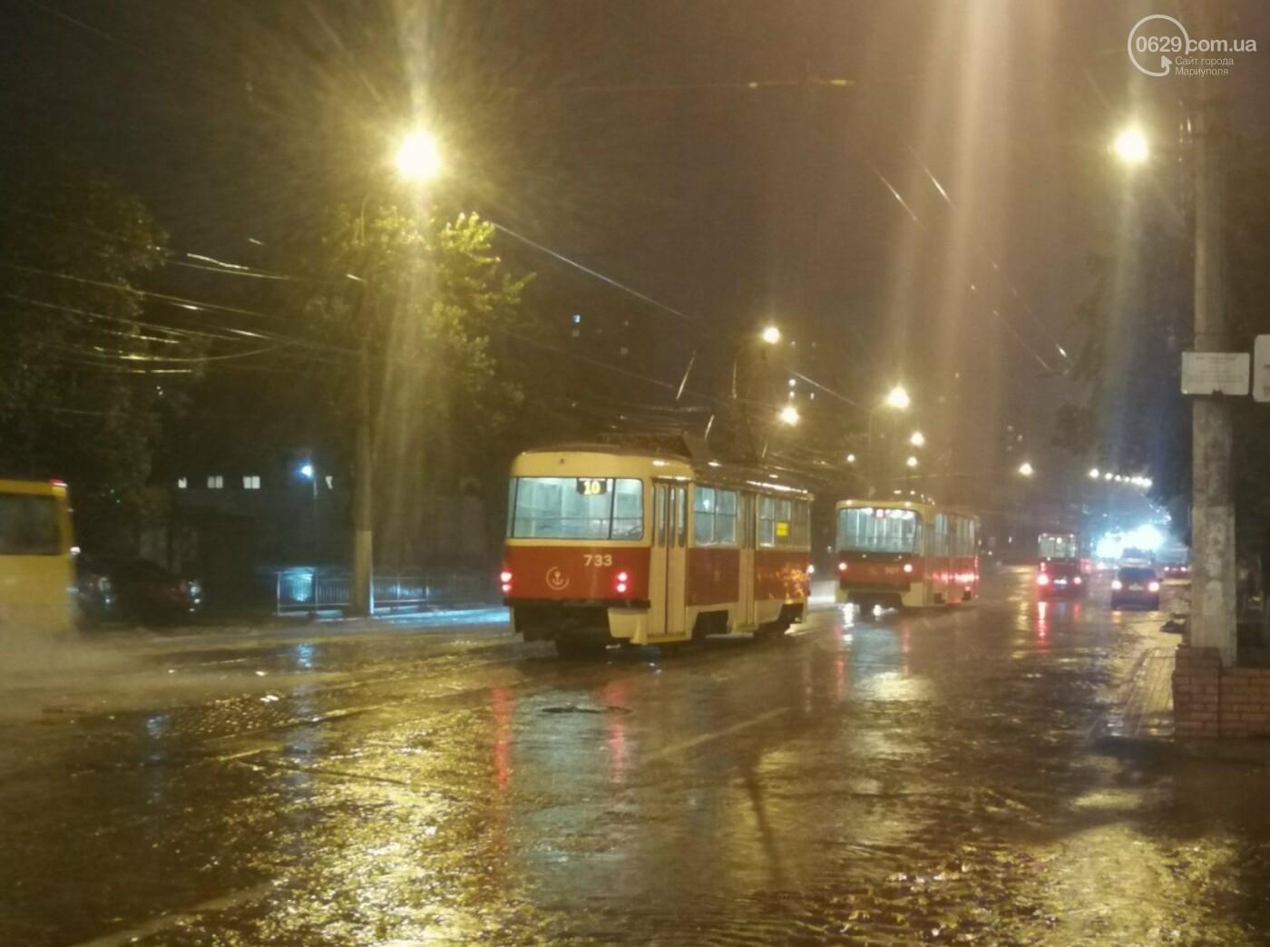 Непогода в Мариуполе: затопленная Песчанка, застрявшие трамваи и угроза для жителей пр. Лунина, - ФОТО, фото-4