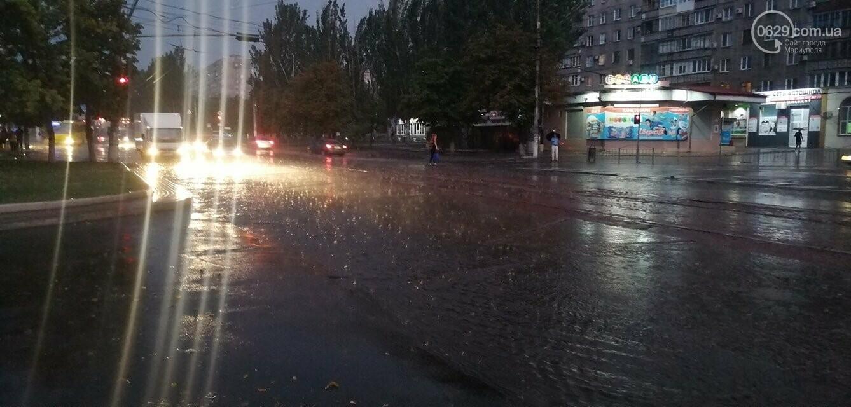 Непогода в Мариуполе: затопленная Песчанка, застрявшие трамваи и угроза для жителей пр. Лунина, - ФОТО, фото-3