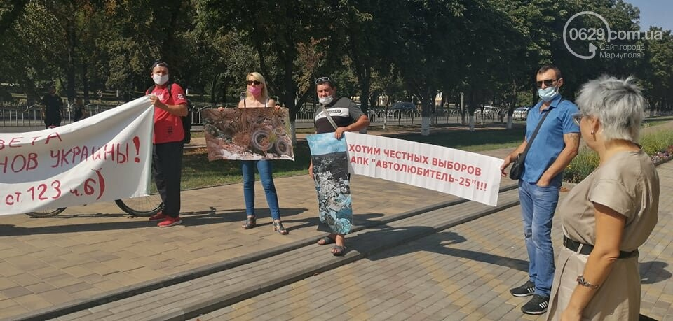 В Мариуполе перед сессией горсовета митинговали автолюбители, - ФОТО, фото-2