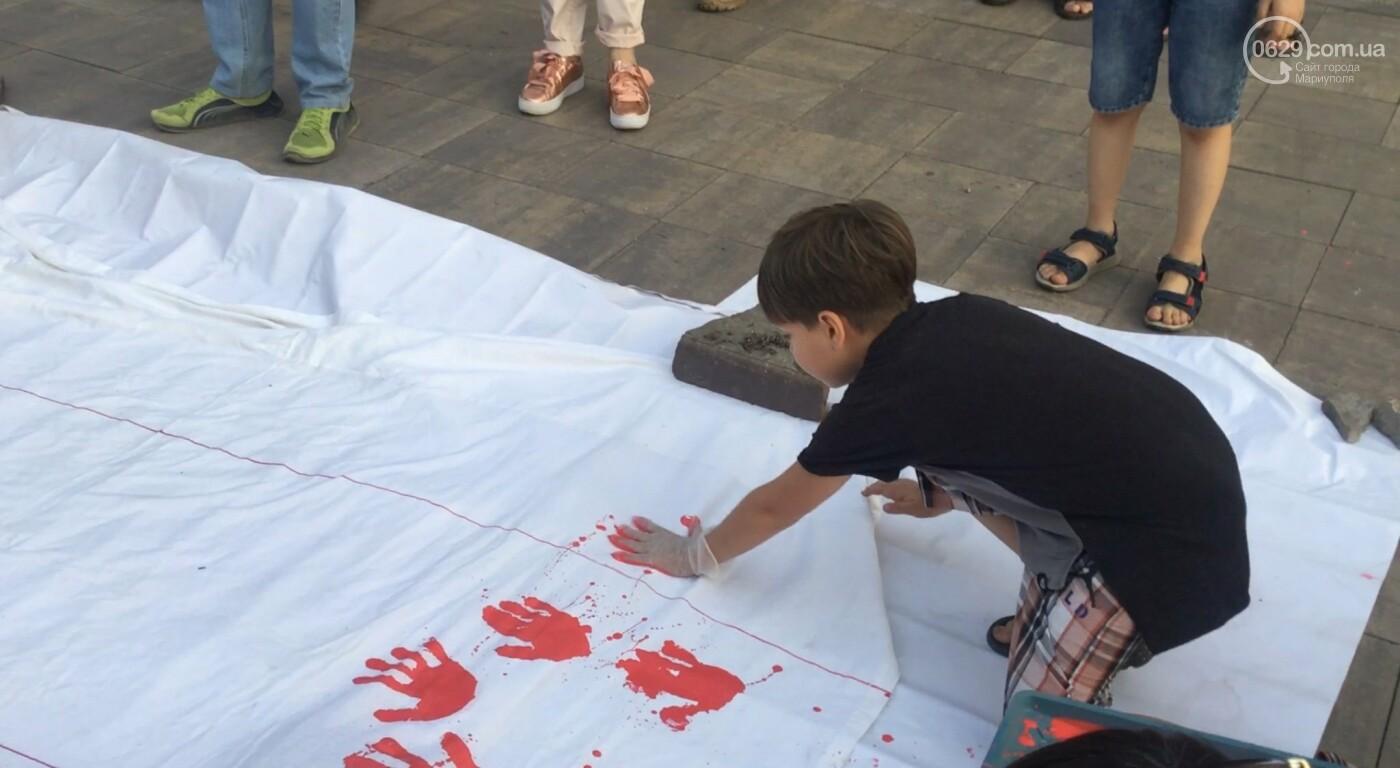 Мариупольцы вышли на акцию в поддержку Беларуси, - ФОТО, ВИДЕО, фото-7