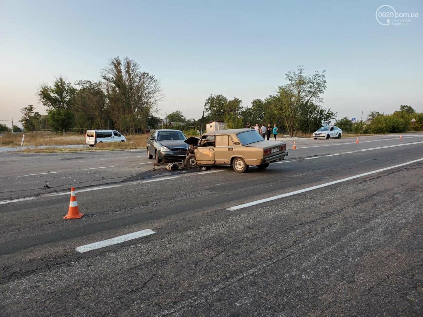 На трассе под Мариуполем «ВАЗ» протаранил «Lada Priora»,  - ФОТО, фото-5