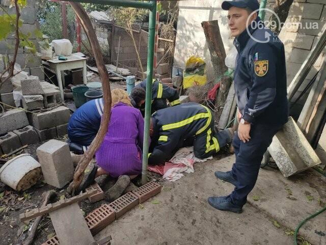 В Мариуполе  свинью доставали из ямы, - ФОТО, фото-2