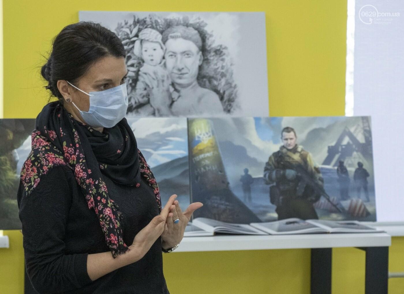 Как в Донецкой области память оставляют на холстах и в масле, - ФОТОРЕПОРТАЖ, фото-8