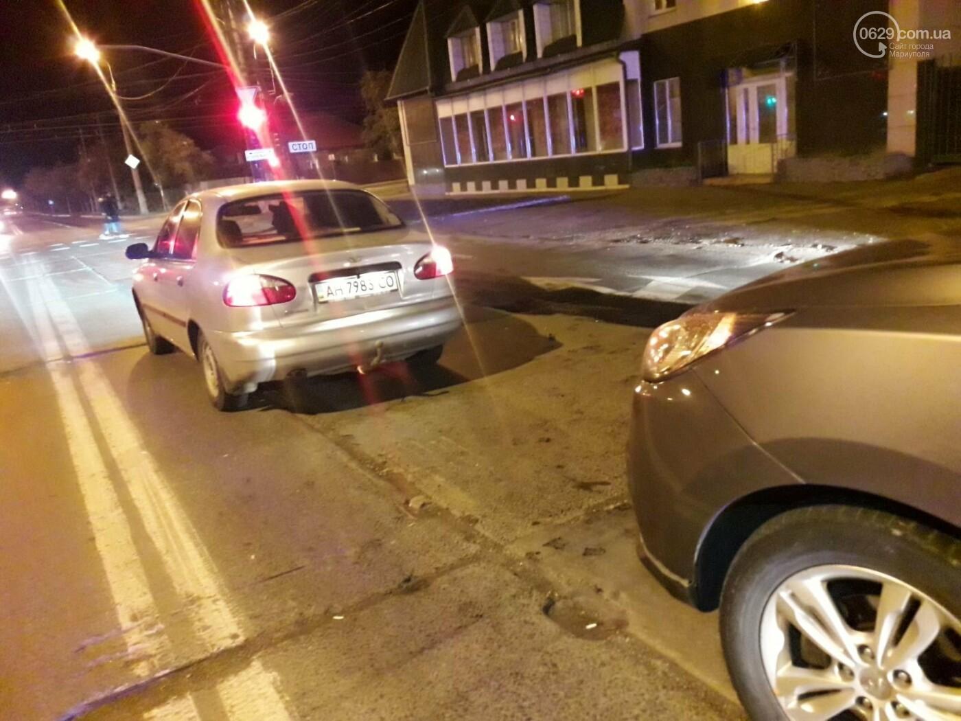 """Тройное ДТП в Мариуполе. Пьяный на """"КИА"""" протаранил два автомобиля, - ФОТО, фото-1"""