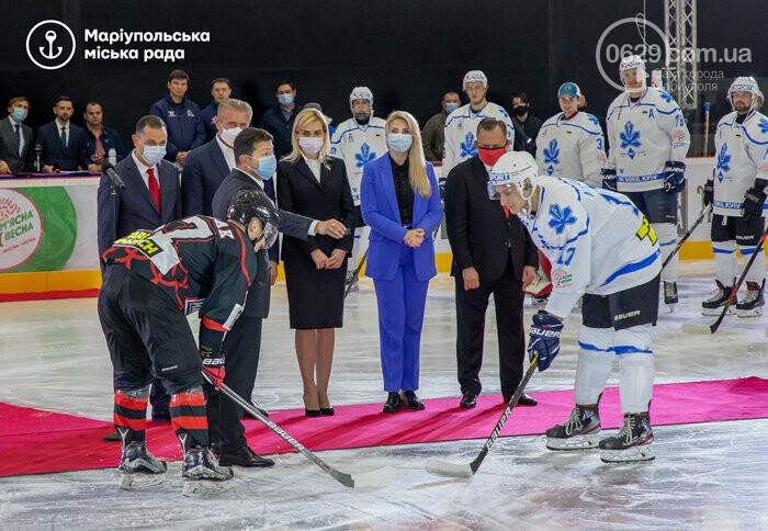 Открытие ледовой арены в Мариуполе: испуг Зеленского, травма оператора и салют, - ФОТО, ВИДЕО, фото-5