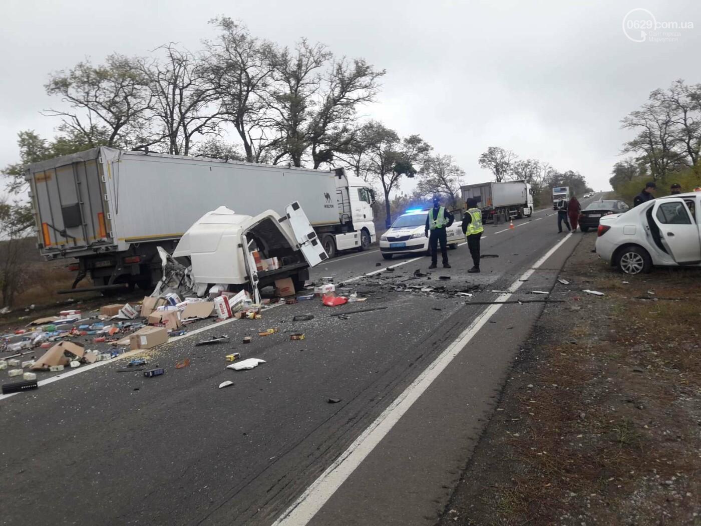 Автомобили вдребезги. В аварии на трассе под Мариуполем погибли два водителя, - ФОТО 18+, фото-9