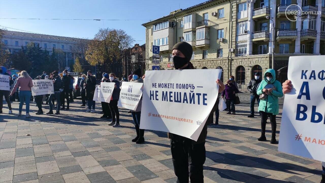 В Мариуполе рестораторы протестуют против карантина выходного дня, - ВИДЕО, фото-22