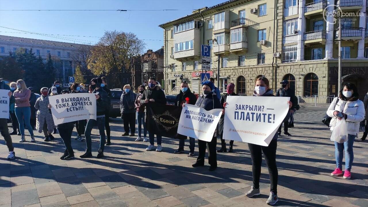В Мариуполе рестораторы протестуют против карантина выходного дня, - ВИДЕО, фото-20